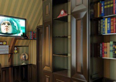 Интерьер небольшого кабинета дома