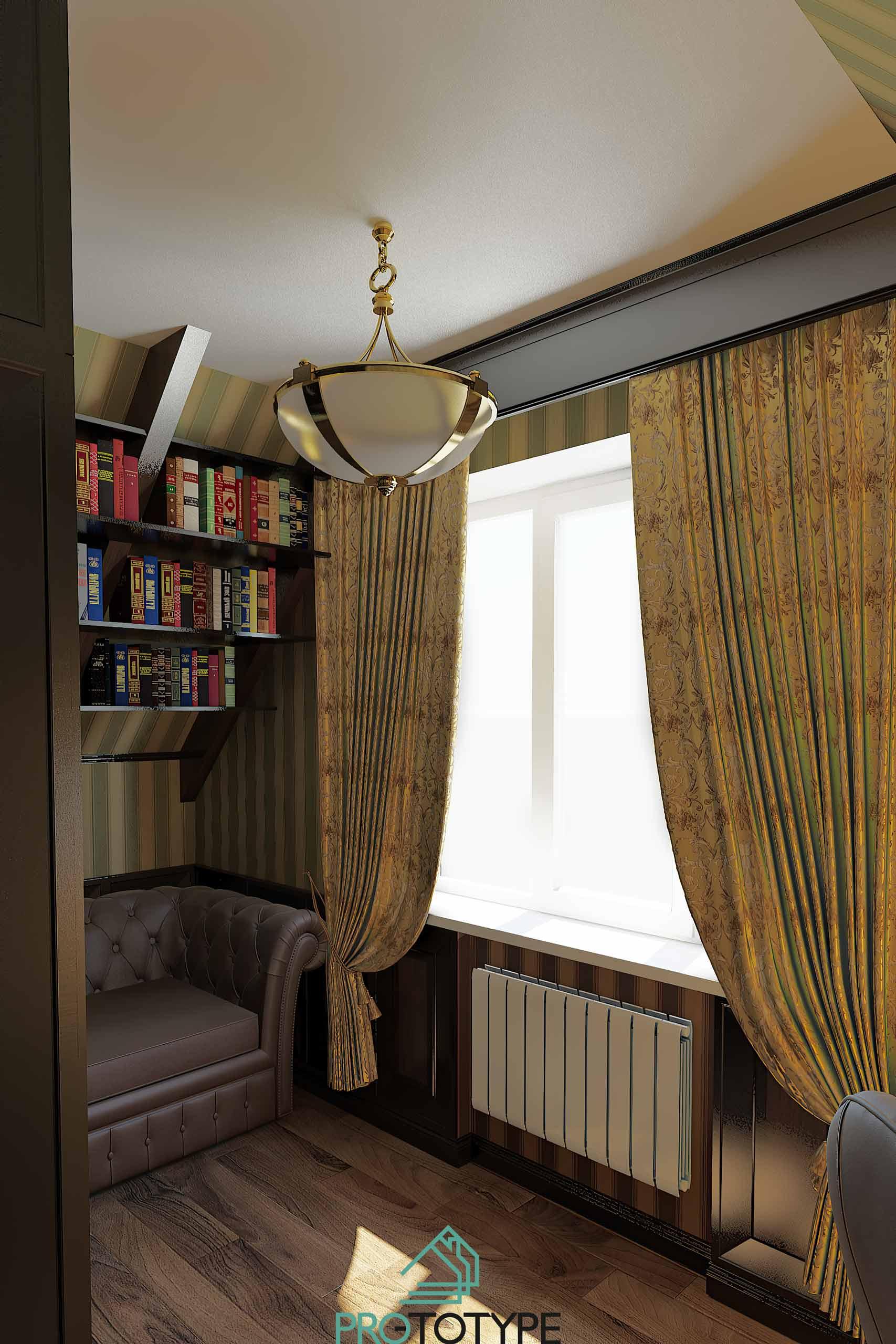Малый кабинет в частном доме