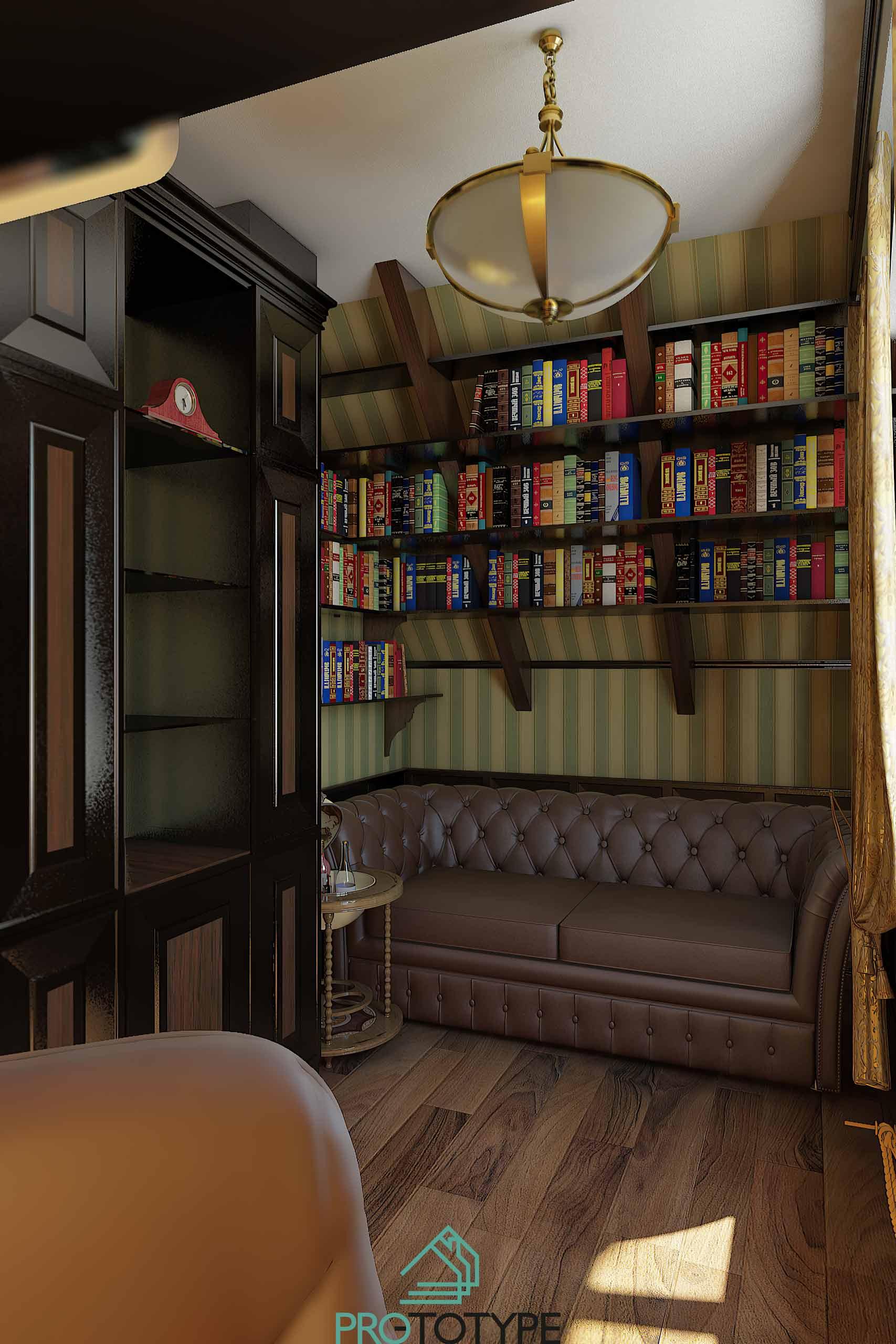 Дизайн-проект интерьера кабинета