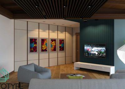 Дизайн телевизионной зоны