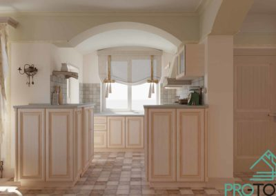 Из кухни можно сразу попасть на террасу