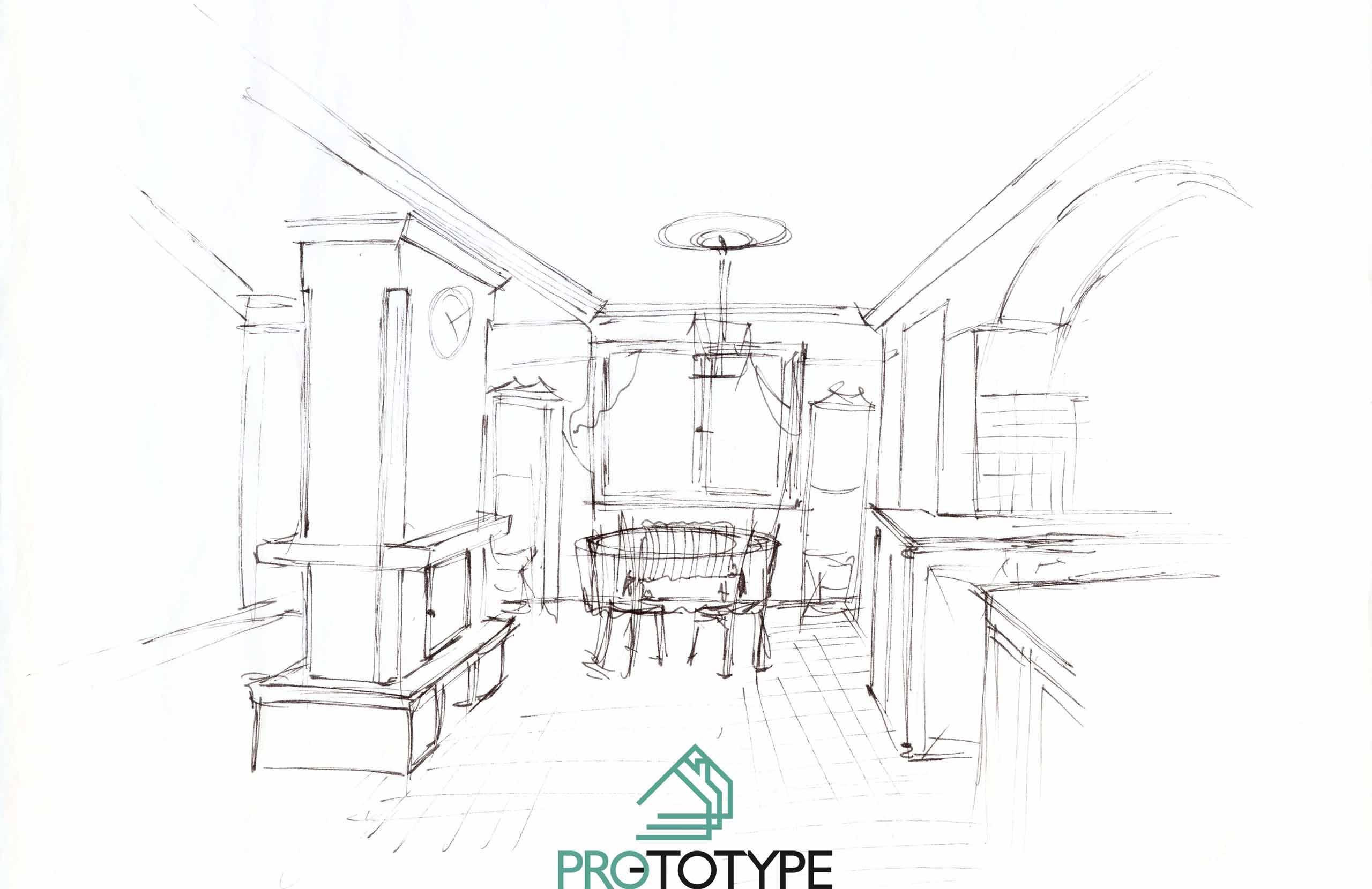 Эскизы дизайна интерьера в духе Прованса