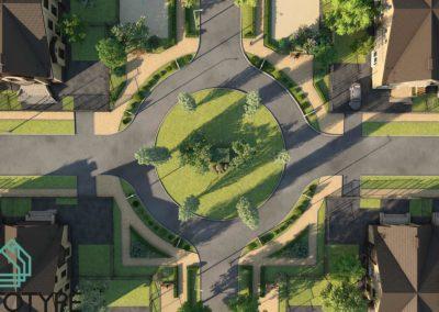 Архитектура загородного поселка
