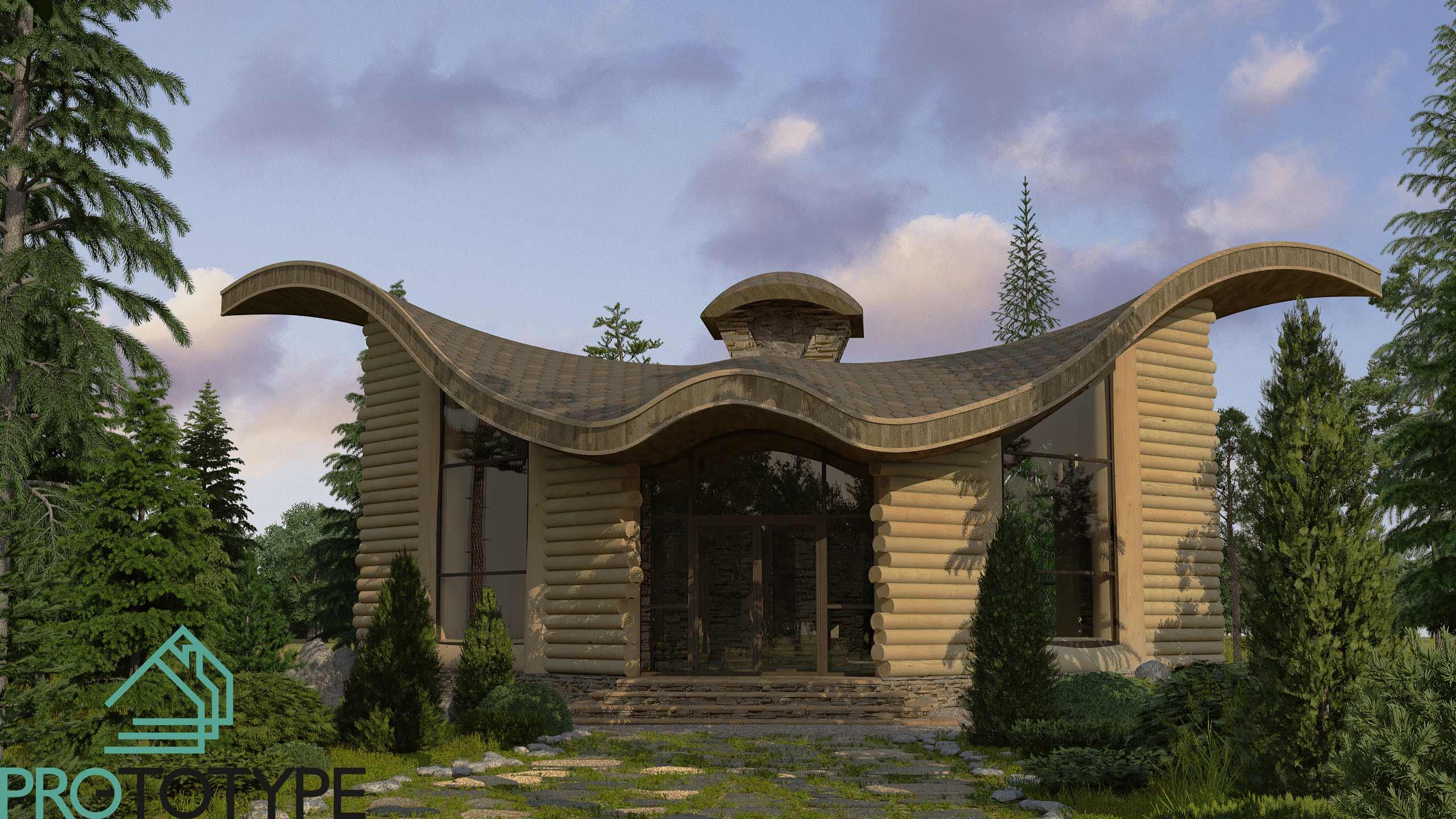 Охотничий дом в лесу