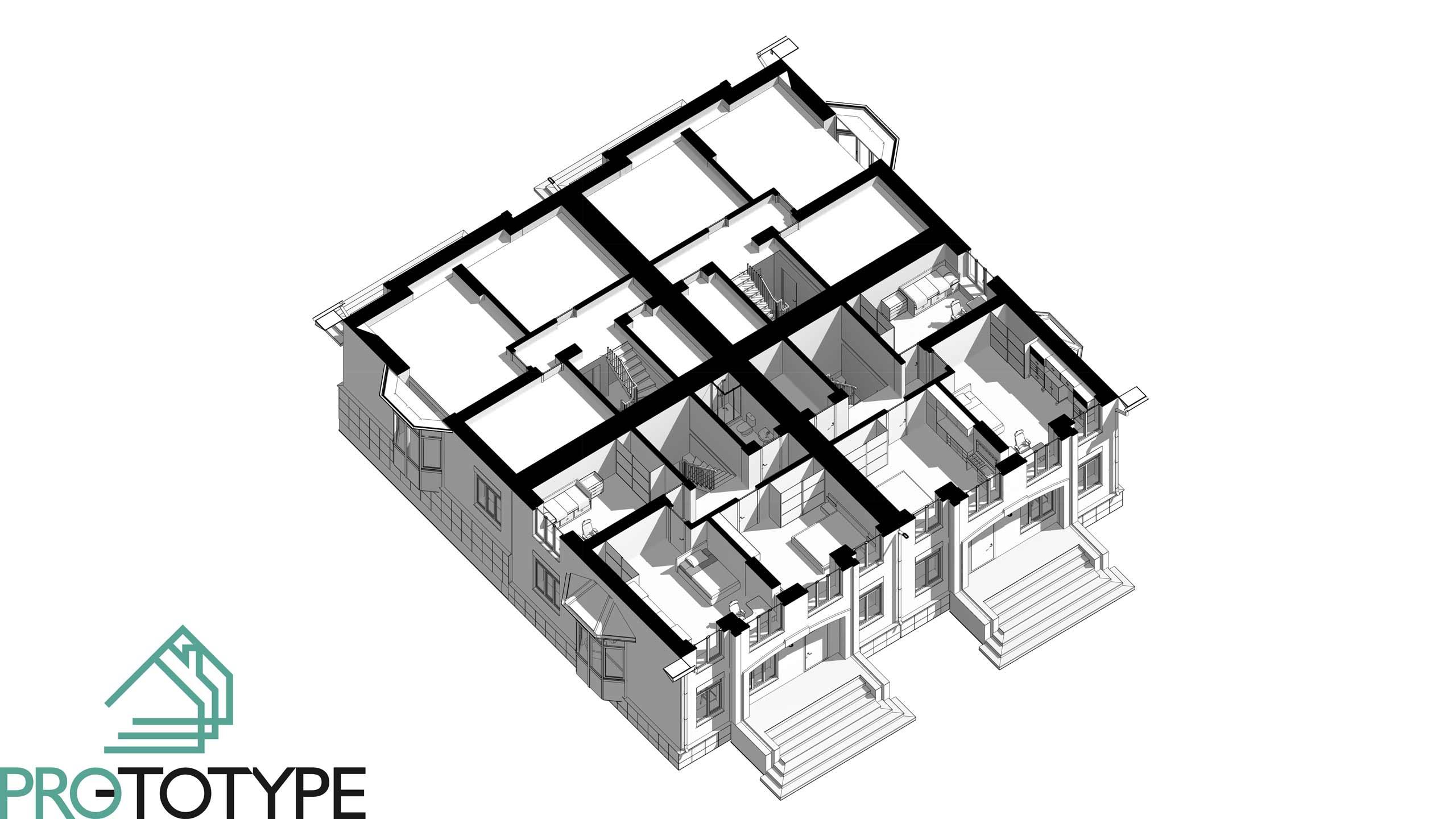 Планировка таунхауса второй этаж