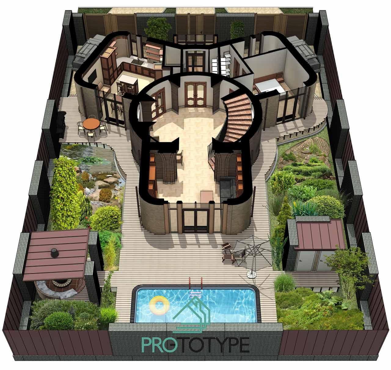 Заказать проект дома с архитектурой, дизайном и ландшафтом