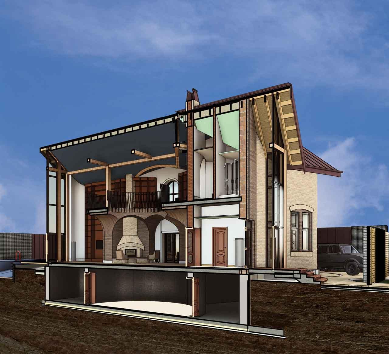Проект дома на 6 сотках