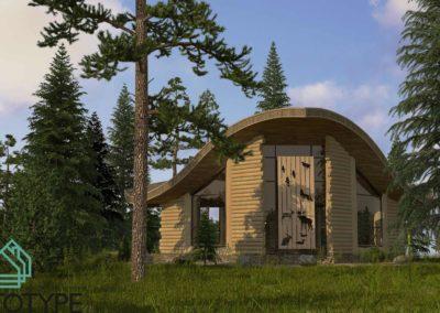 Лесной дом для охотников