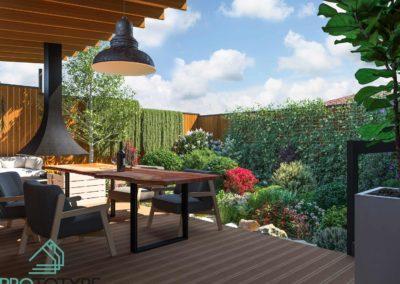 Ландшафтный дизайн в маленьком дворике