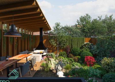 Дом на узком участке - Ландшафт участка с приватной зоной