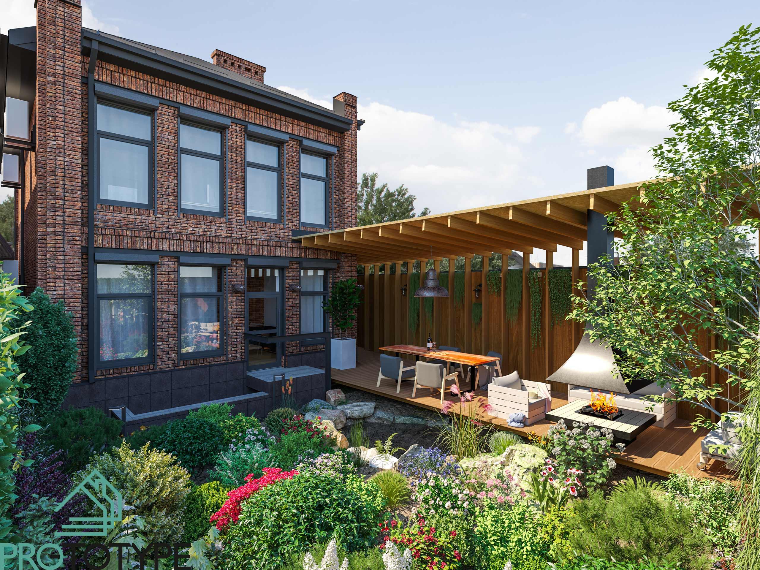 красивые дома - Архитектура лофта и ландшафт природы