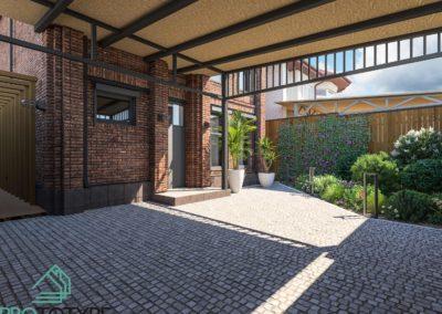 Дома в стиле лофт - Проект двора маленького участка