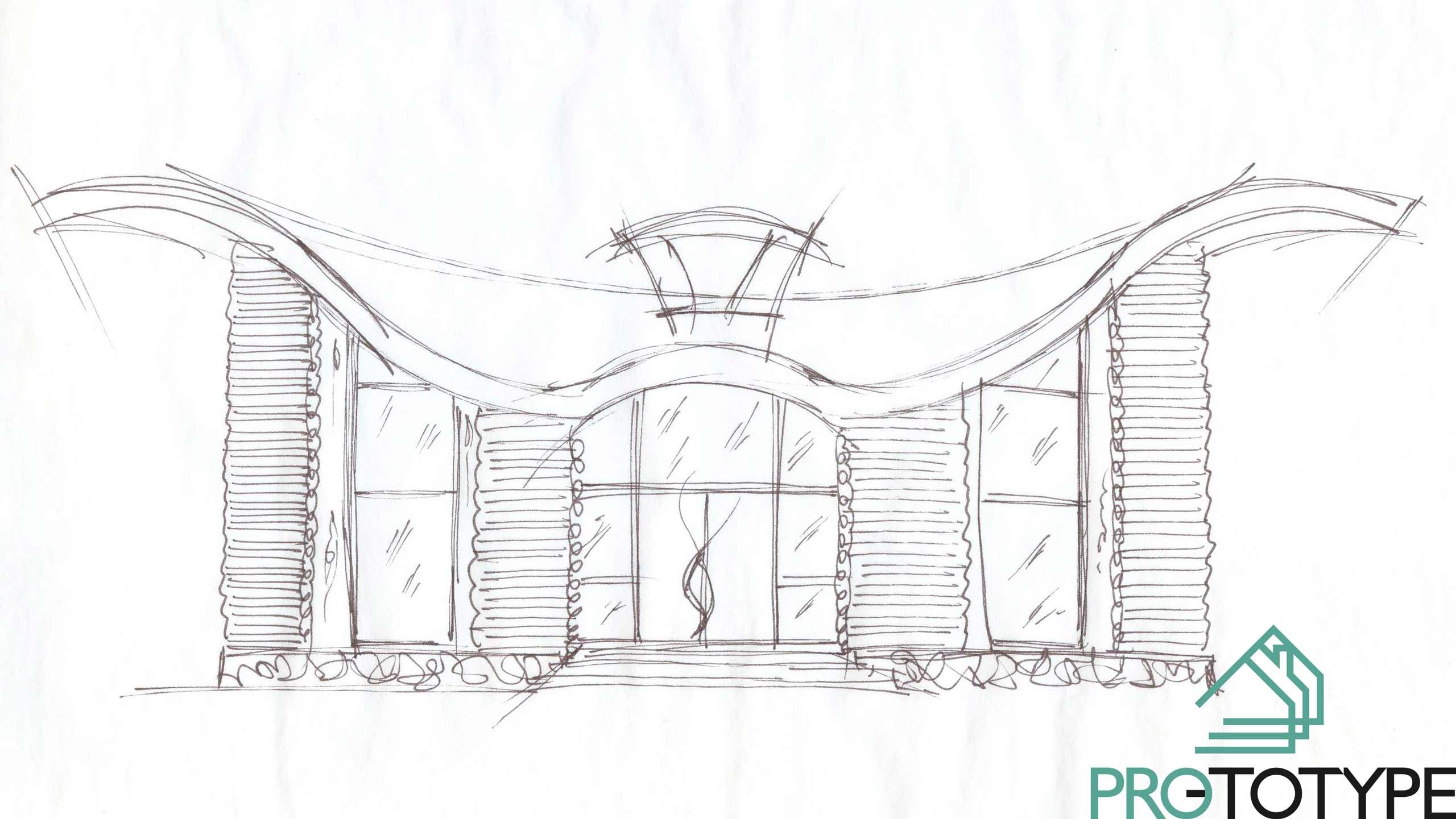 Эскизный проект дома для охотников