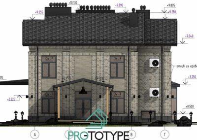 Цветные Фасад дома с реалистичными материалами