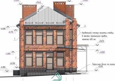 Красивый фасад дома в стиле лофт