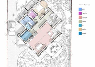 Архитектурный эскизный проект с ландшафтным дизайном участка