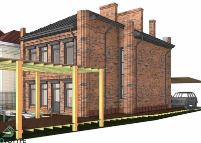 Качественный проект дома с интересным фасадом