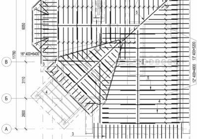 Схема стропильной системы частного дома