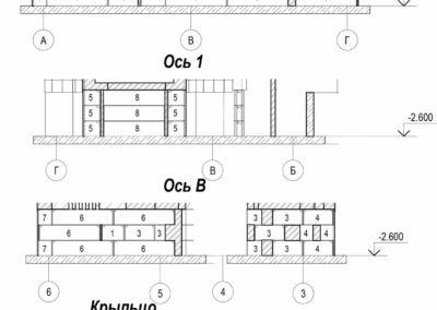 Фасадная схема раскладки фундаментных блоков ФБС