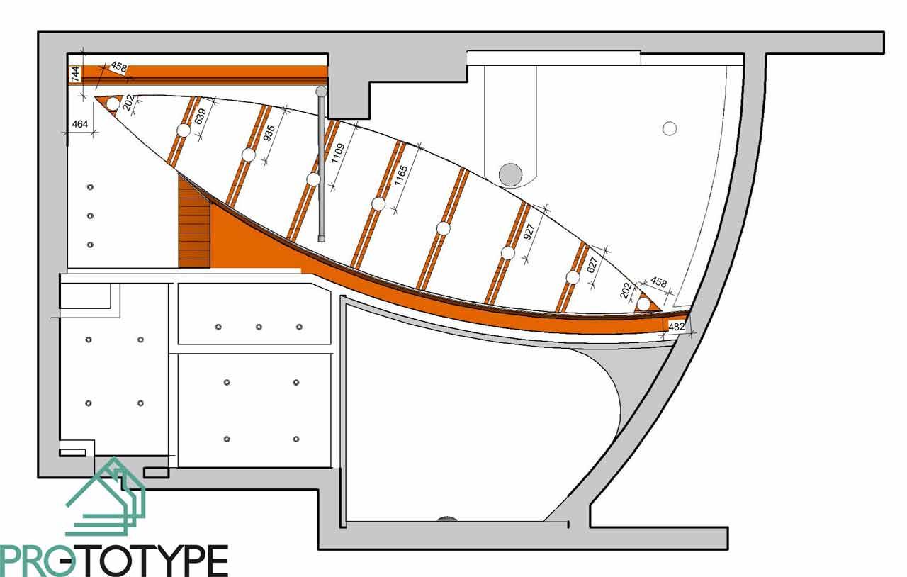 План потолка в дизайн проекте интерьера