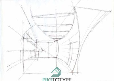 Эскиз дизайн проекта квартиры на побережье