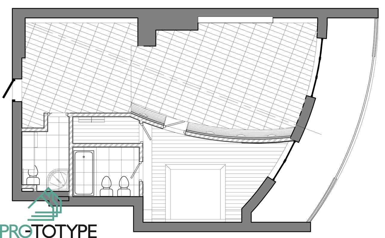 План полов в дизайн проекте интерьера квартиры