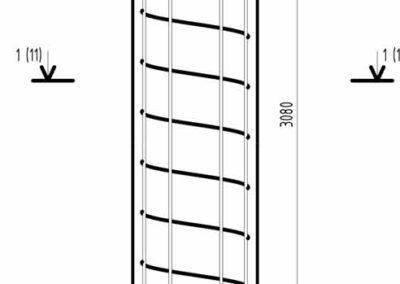 Армирование круглой колоны с несъемной опалубкой в частном доме