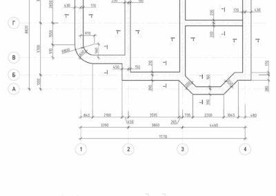 Опалубочный план монолитного пояса частного дома