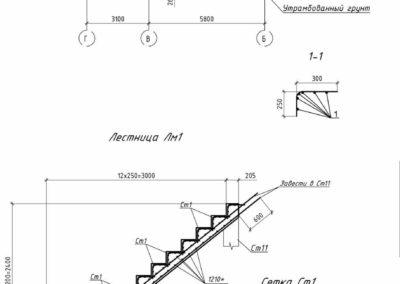 Чертежи монолитной лестницы в подвал частного дома