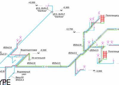 Общая схема инженерных сетей частного дома