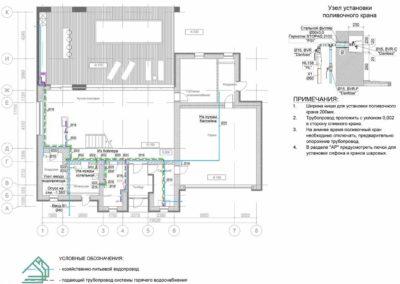 План разводки водоснабжения по первому этажу частного дома