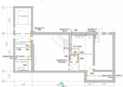 Проект канализационной системы частного дома