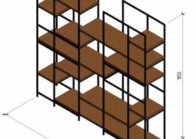 Чертежи для заказа мебели по индивидуальным эскизам дизайнера