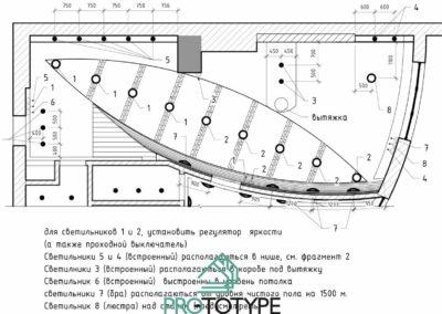Чертежи сложного потолка в дизайн интерьере квартиры