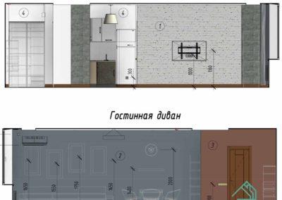 Дизайн интерьера пример развертки стен с текстурами