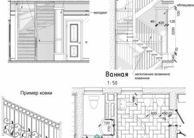 Фрагментарные разрезы и узлы в дизайн проекте интерьера