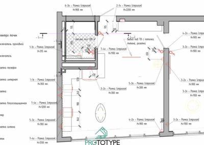 План электрики в дизайн проекте интерьера