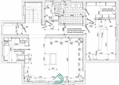 Монтажный план ГКЛ дизайн проекта в частном доме