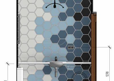 Вариант раскладки плитки нестандартной шестигранной формы