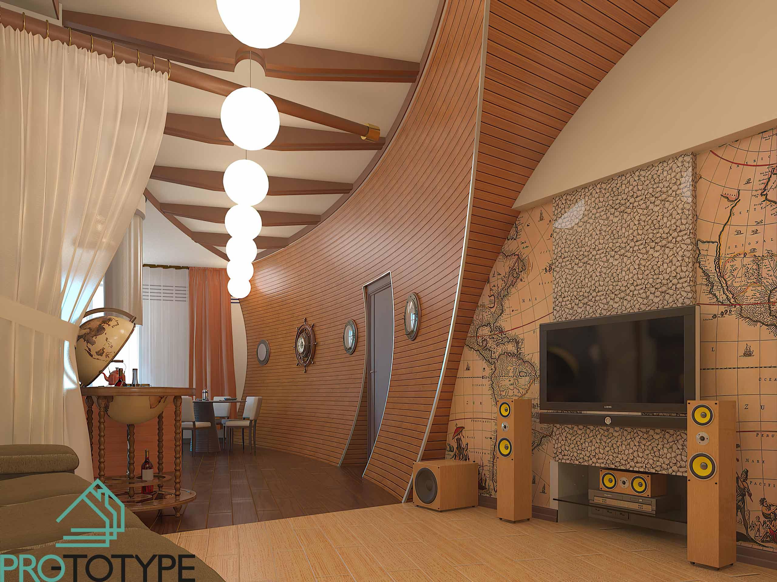 Проект интерьера квартиры в Геленджике
