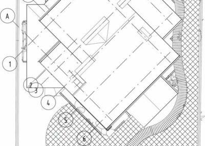 План с зонами капельного авто-полива в проекте ландшафтного дизайна
