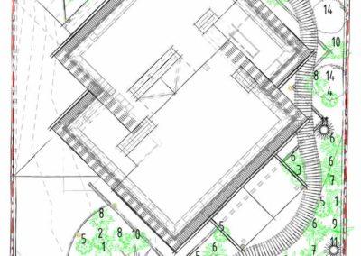 Дендроплан в проекте ландшафтного дизайна участка частного дома