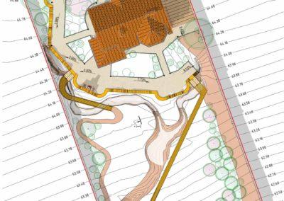 Генеральный план ландшафтного дизайна участка частного дома