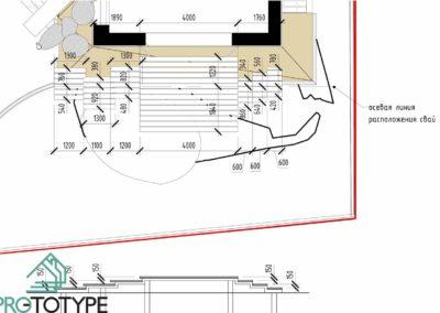 Чертежи открытой террасы частного дома