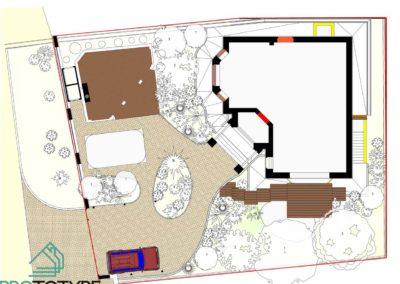 Генплан участка частного дома с ландшафтным дизайном