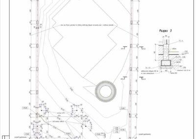 Строительный план на участок с размерам все капитальных построек