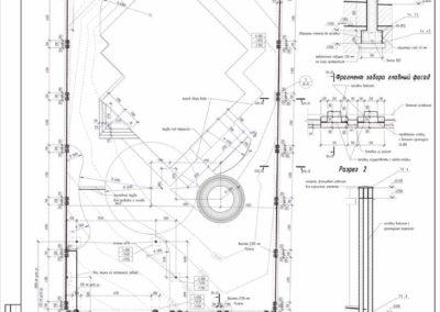 План фундамента построек забора и строений на участке