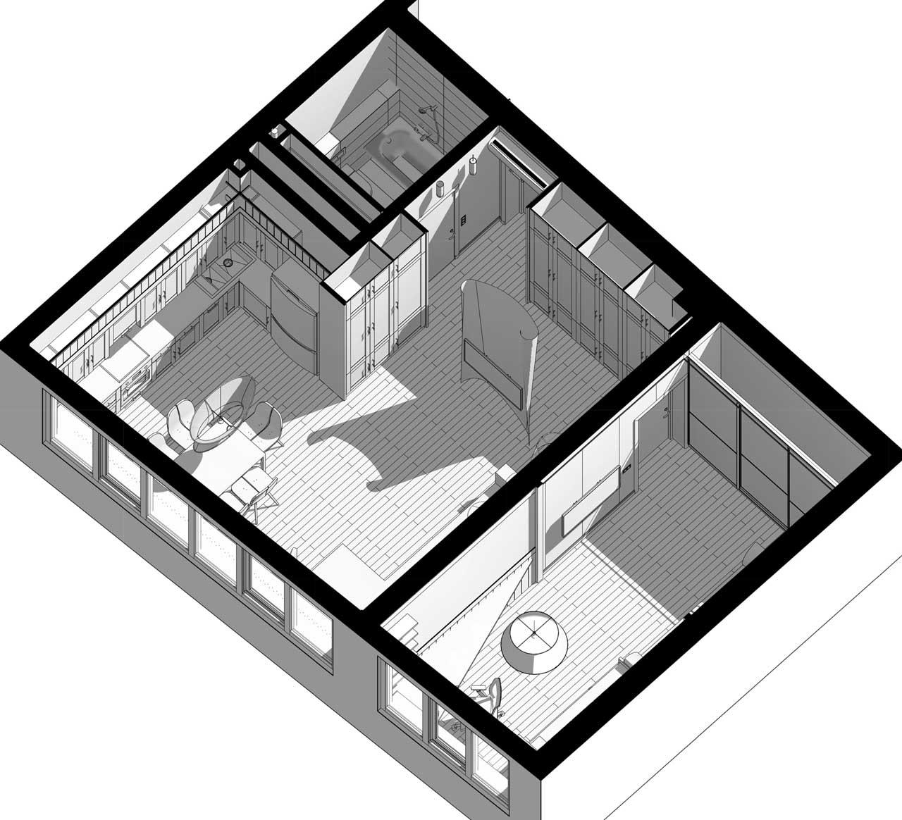 Планировка двухкомнатной квартиры дизайн проект