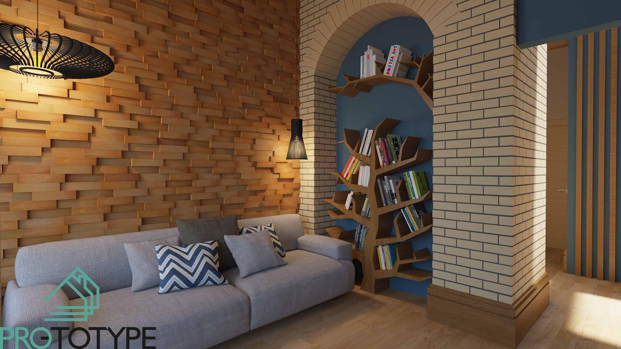 Современный интерьер в гостевой комнате