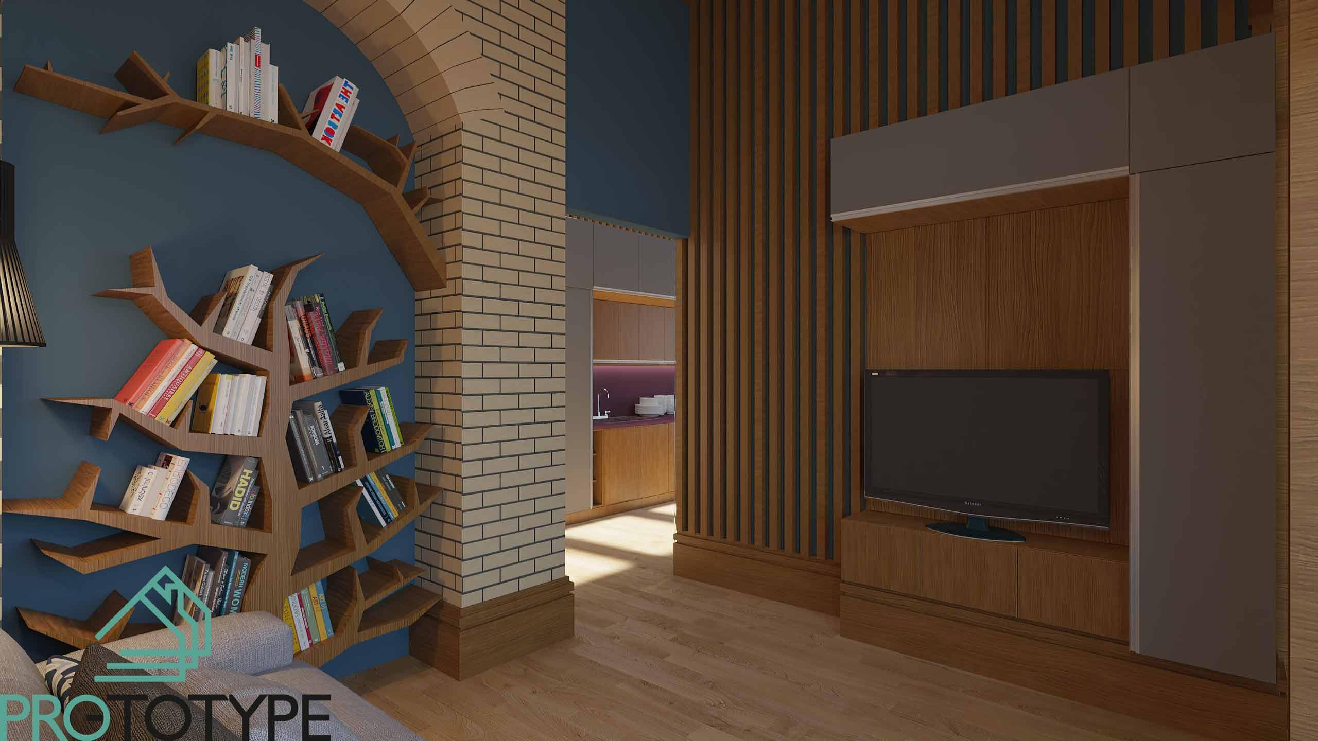 Современный дизайн интерьера с деревянной рейкой